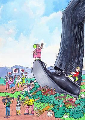 Terminate Drawing - Big Foot by Anthony Mwangi