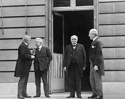 Versailles Photograph - Big Four At Versailles by Underwood Archives