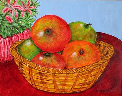 Art Print featuring the painting Big Fruit by Melvin Turner