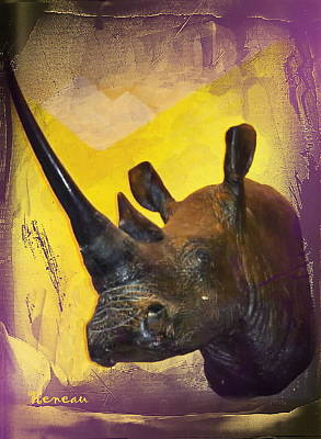 Photograph - Big Game Africa - Rhino by Sadie Reneau