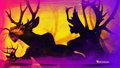 Photograph - Big Game Canada - Moose And Elk by Sadie Reneau