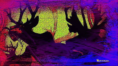 Photograph - Big Game Hunting - Moose And Elk 2 by Sadie Reneau