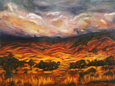 Painting - Big Gountry - Mac Donnell Ranges Australia by Lyndsey Hatchwell