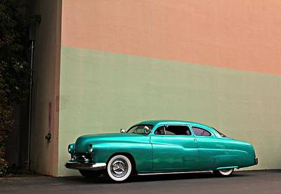 Big Green Merc Just Around The Corner Print by Steve Natale