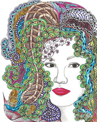 Big Hair Color Art Print