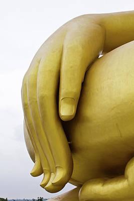Big Hand Buddha Image Art Print