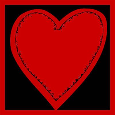 Digital Art - Big Heart 2 Red by Marianne Campolongo