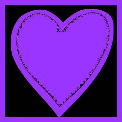 Photograph - Big Heart 4 Purple by Marianne Campolongo
