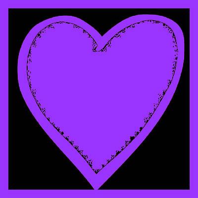 Photograph - Big Heart 4 Purple by Marianne Campolongo