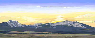 Big Hole Beaverhead Mountains Art Print