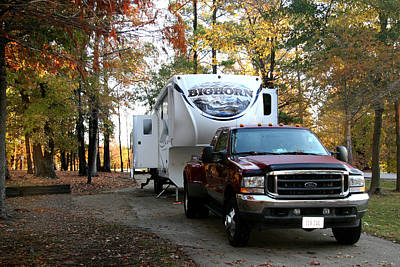 Photograph - Big Horn 5th Wheel At The Campground by Amelia Painter