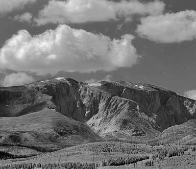 Photograph - 109751-bw-big Horn Mountains by Ed  Cooper Photography
