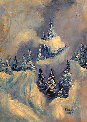 Mountain Painting - Big Horn Peak by Patricia Brintle