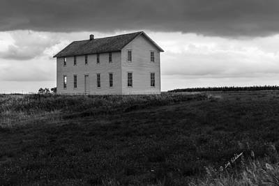 Photograph - Big House In A Storm by Edward Peterson