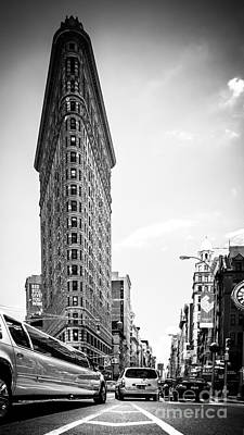 Big In The Big Apple - Bw Art Print