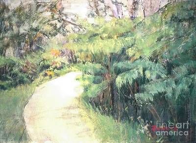 Big Island Pathway Art Print by Mary Lynne Powers