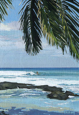 Big Island Surfing Original by Stacy Vosberg