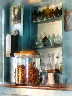 Jars Photograph - Big Jar Of Pretzels by Susan Savad