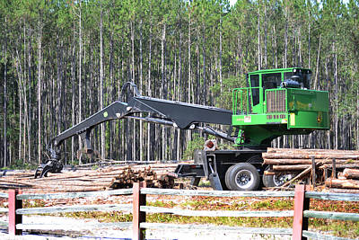 Photograph - Big John Deere Tree Picker Upper by RD Erickson