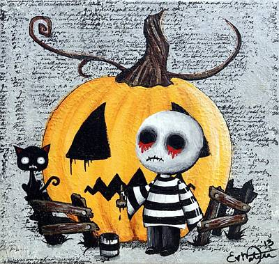 Big Juicy Tears Of Blood And Pain No. 11 The Great Pumpkin Art Print