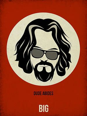 Movies Painting - Big Lebowski Poster by Naxart Studio