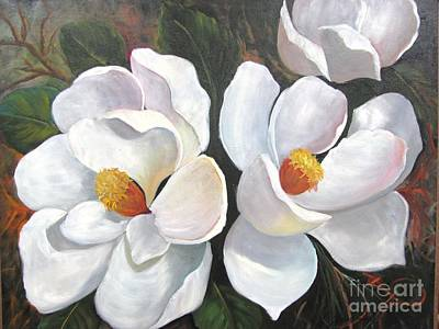 Big Magnolias Art Print