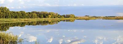 Photograph - Big Marsh Reflections Panoramic by Bonfire Photography