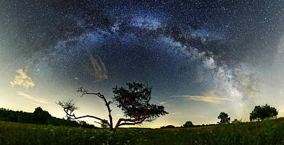 Big Meadows Milkyway  Art Print by Andrew Fritz