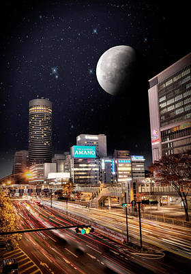 Big Moon Yokohama Art Print