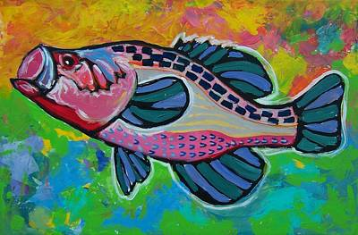 Painting - Big Mouth Bass by Krista Ouellette
