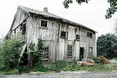 Photograph - Big Old Barn - Rustic - Agricultural Buildings by Gary Heller
