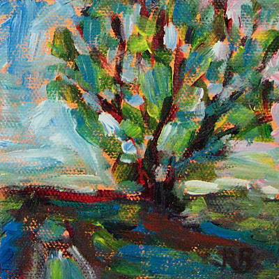Big Old Tree By The Road Art Print by Robie Benve