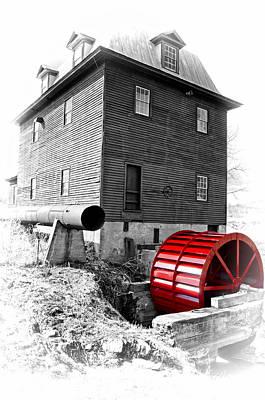 Photograph - Big Otter Mill Wheel by Steve Hurt