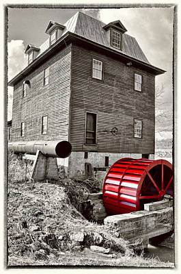 Photograph - Big Otter Red Wheel  by Steve Hurt