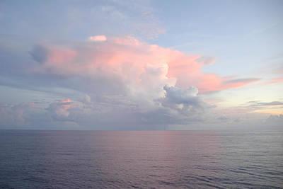 Photograph - Big Pink Cloud Over Sea by Bradford Martin