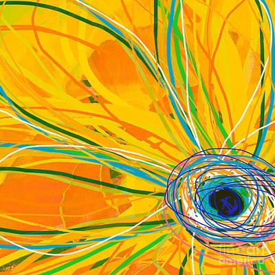 Tv Set Digital Art - Big Pop Floral I by Ricki Mountain