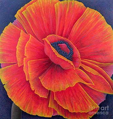 Orange Poppy Painting - Big Poppy by Ruth Addinall