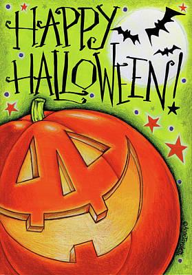 Jack O Lantern Painting - Big Pumpkin by Anne Tavoletti