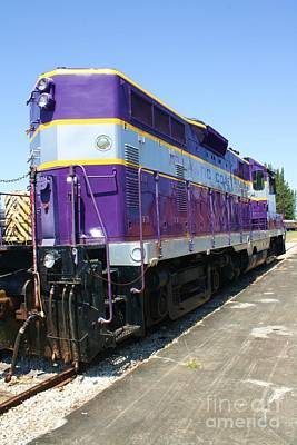 Old Caboose Photograph - Big Purple by Chuck  Hicks