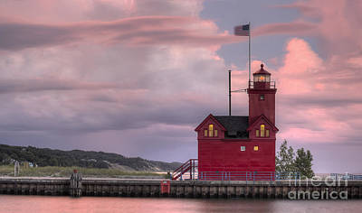 Holland Michigan Photograph - Big Red At Sunset by Twenty Two North Photography