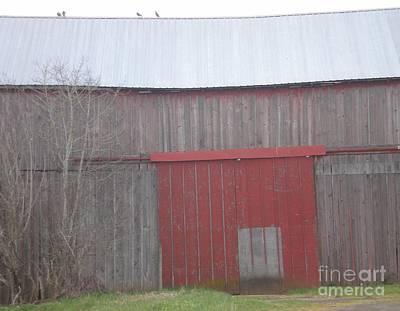 Big Red Barn Door Art Print
