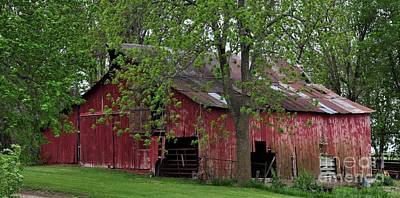 Photograph - Big Red Barn by Liane Wright