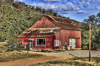 Digital Art - Big Red Barn by Photographic Art by Russel Ray Photos