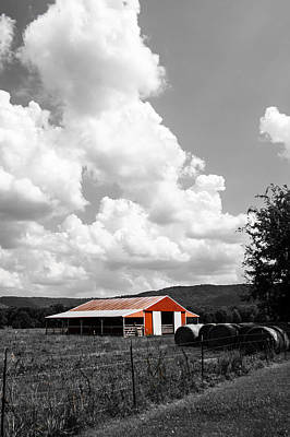 Big Red Barn Original by Shelby  Young