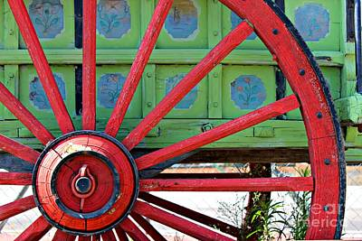 Gypsy Wagon Photograph - Big Red by Clare Bevan