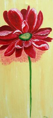 Painting - Big Red Flower by Jamie Frier