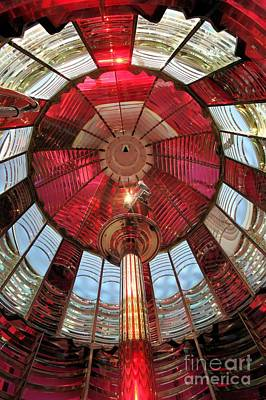 Photograph - Big Red Fresnel by Adam Jewell