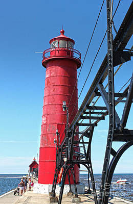 Photograph - Big Red Lighthouse by Gregory Dyer