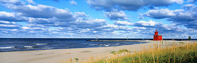 Color Guard Photograph - Big Red Lighthouse, Holland, Michigan by Panoramic Images
