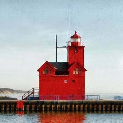 Navigation Digital Art - Big Red by Michelle Calkins
